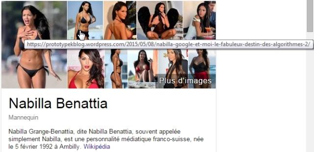 Nabilla selon Google - mi-mai 2015