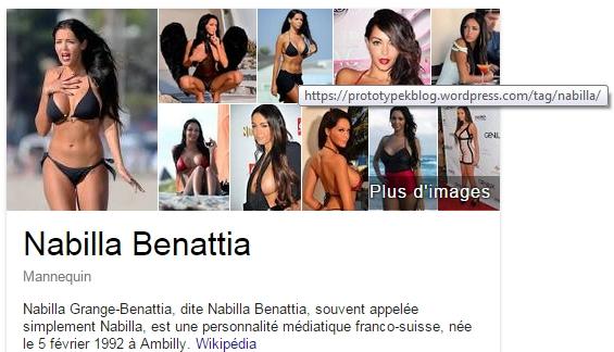 Nabilla selon Google